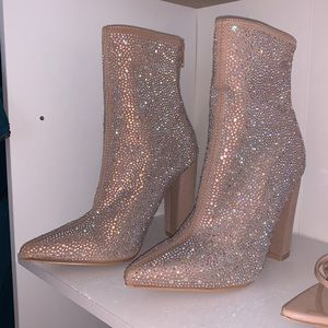 Azalea Wang diamond nude boots